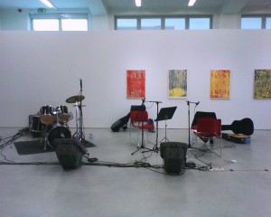 Necessary Visual Evidence That Some Musical Equipment Was Once Placed In A Gallery Space