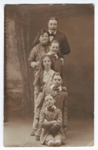 Muriel Furness, fourth from the top, aged nine.